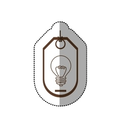 Sticker price tag of light bulb with resistance vector