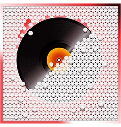 Vinyl record breaking white 3D circular tiles wall vector image vector image