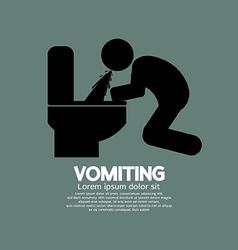 Vomiting Person Graphic Symbol vector image vector image