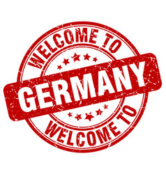 welcome to germany vector image vector image