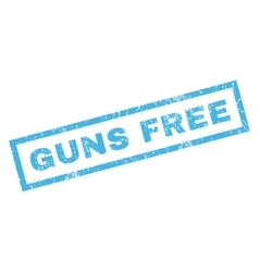Guns free rubber stamp vector