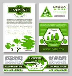 Landscape design business banner template set vector