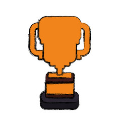 Cup trophy draw vector