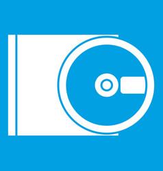 Dvd drive open icon white vector