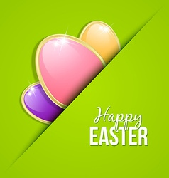 Easter eggs card template vector