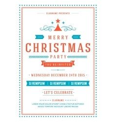 Christmas party invitation poster design vector