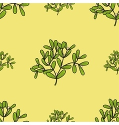 Seamless pattern with mistletoe twigs vector