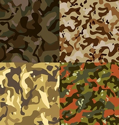 Set of 4 seamless camouflage pattern eps 10 vector