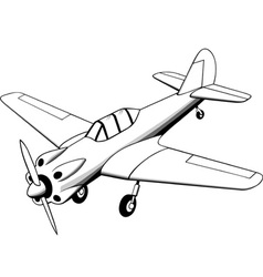 Propeller air plane vector