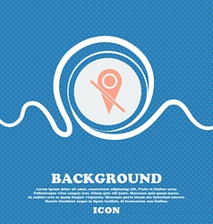 Map pointer icon sign blue and white abstract vector