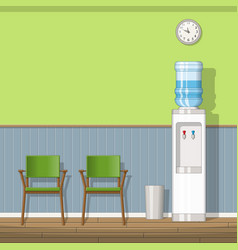A waiting room with chairs vector