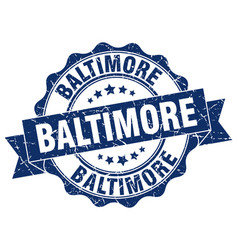 Baltimore round ribbon seal vector