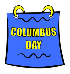 Columbus day calendar icon icon cartoon vector