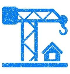 Construction crane grainy texture icon vector