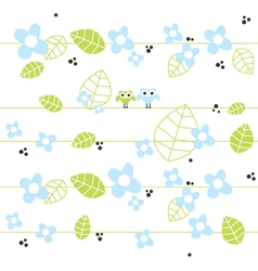 Cute seamless pattern with owls vector image vector image