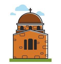 cyprus cathedral or orthodox monastery symbol vector image