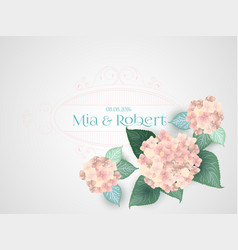 flower wedding invitation card vector image vector image