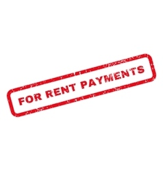 For rent payments text rubber stamp vector