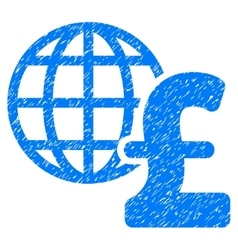 Global pound economics grainy texture icon vector