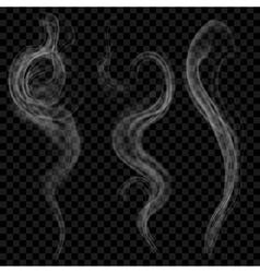 Gray smoke vector image vector image