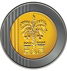 Israeli coin 10 shekel vector