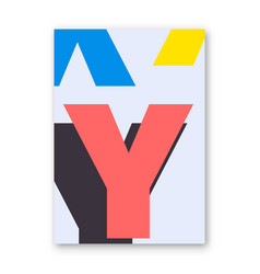 letter y poster vector image vector image