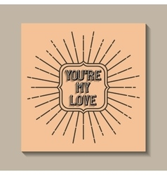 love card vintage style frame vector image