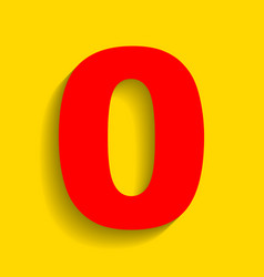 Number 0 sign design template element red vector