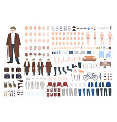old man character constructor creation set vector image vector image