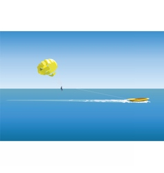 Parasailing sport vector image