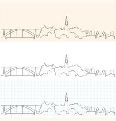 Porto hand drawn skyline vector