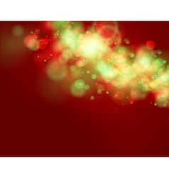Red and green Lights on red background vector image