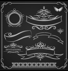 ribbon-ornamental vector image vector image