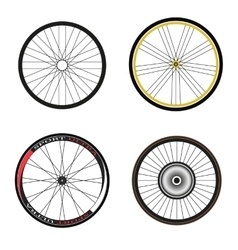 Road and sport bike wheels and tires vector