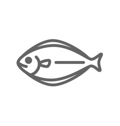 simple fish line icon symbol and sign vector image vector image