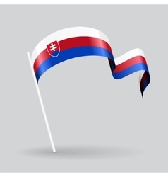 Slovak wavy flag vector image vector image