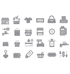 Store gray icons set vector