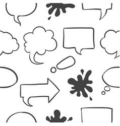 Text balloon pattern style collection vector