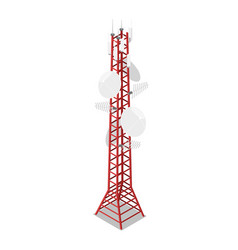 tv tower isometric 3d icon vector image vector image