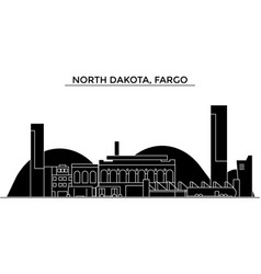 Usa north dakota fargo architecture city vector