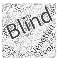 Venetian blinds word cloud concept vector