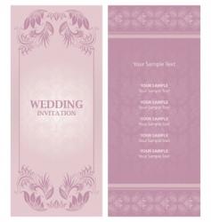 wedding invitation background vector image