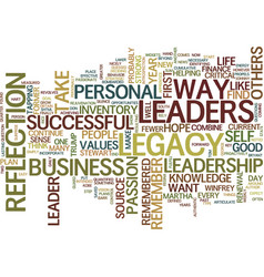 Your leadership legacy text background word cloud vector