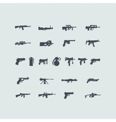 Set of fire weapon icons vector