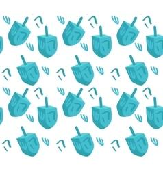 Dreidel seamless pattern Hanukkah Dreidel vector image