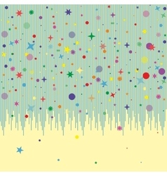 Abstract background pattern card with many falling vector image