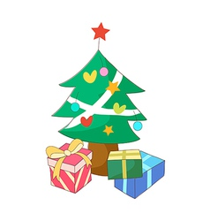 A view of christmas tree vector image
