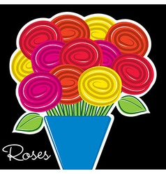 All occasion rose card in format vector