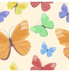 Seamless pattern with flying butterflies vector image