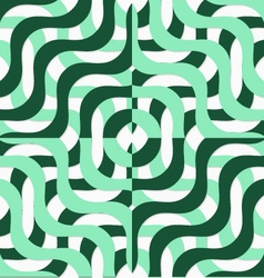 Retro 3d green wavy squares vector